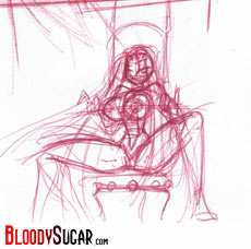 BloodySugar cover sketch 01