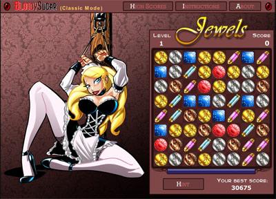 Irina Bloodysugar Strip Jewel Game Gem Swap